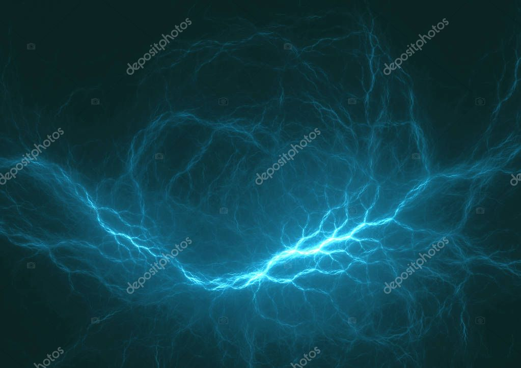 Cyan electrical lightning