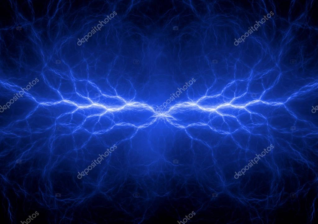 Abstract blue lighning