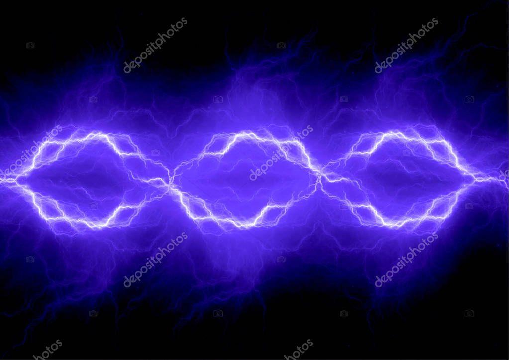 Blue electrical lightning