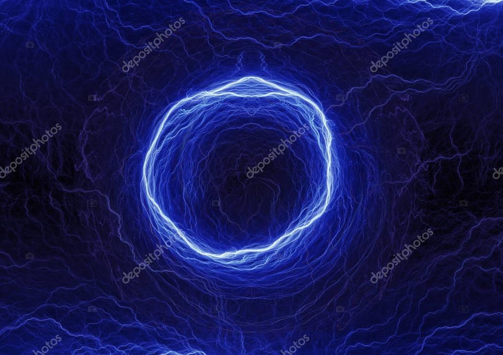 Blue circle lightning
