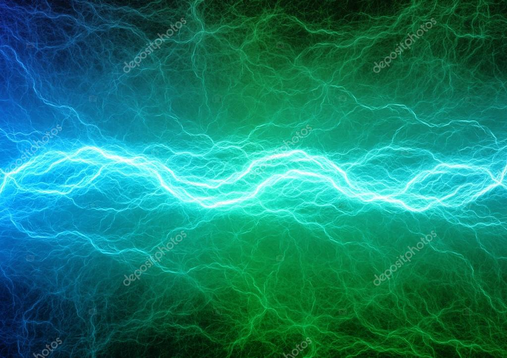Green and blue lightning