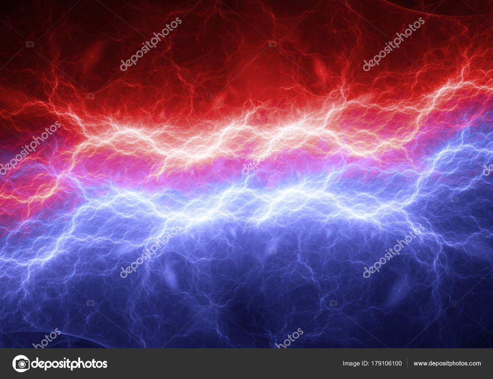 Red Blue Lightning Modern Power Electrical Background