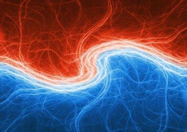 Fire and ice lightning, electrical plasma swirl