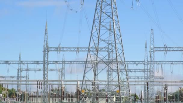 Distribution unit and Iron utility pole of a high voltage power line.