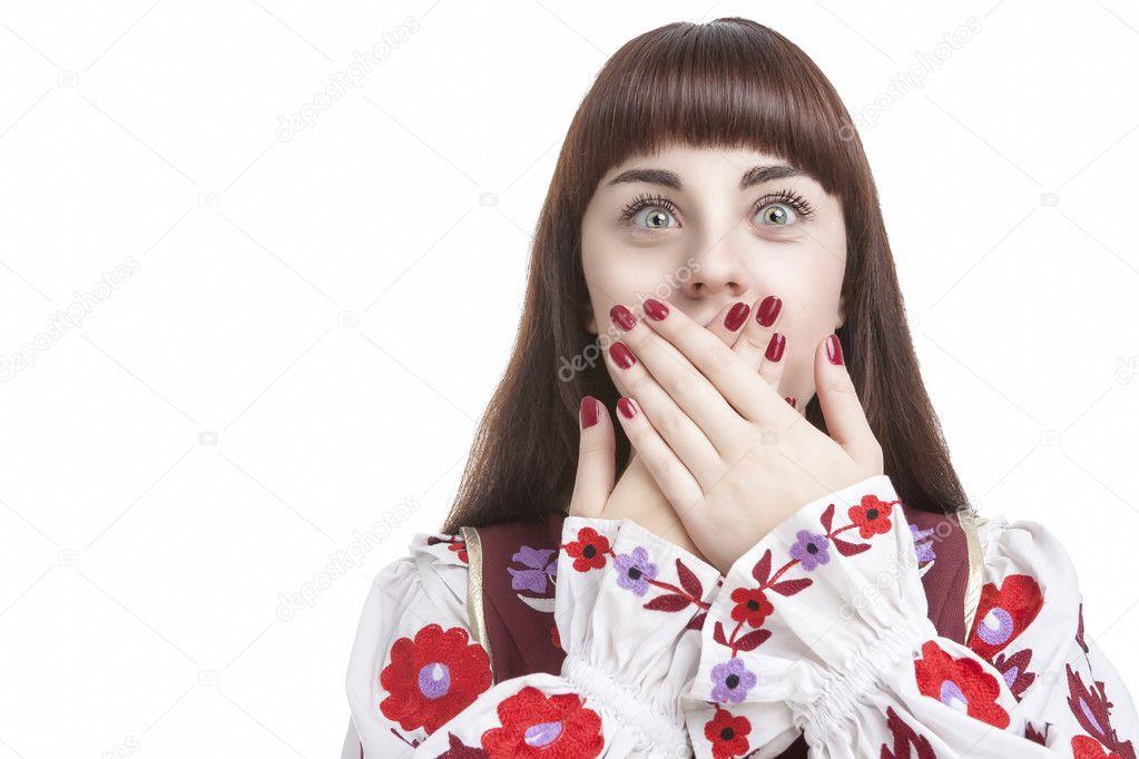 Menschliche Gefühle und Emotionen Konzepte. Junge kaukasischen ...