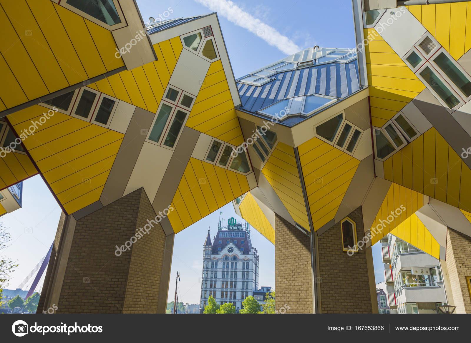 Moderne Gebäude Stadt Architektur Design Elemente Bekannt Als Kubische  Häuser Entworfen Von Piet