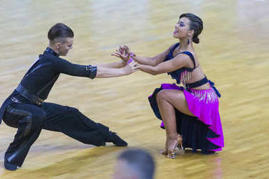 Dance Couple Performs Youth-2 Latin-American Program