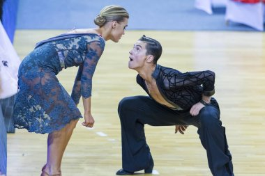 Dance Couple Of Ilia Shvaunov and Anna Sneguir Performs Youth-2 Latin-American Program