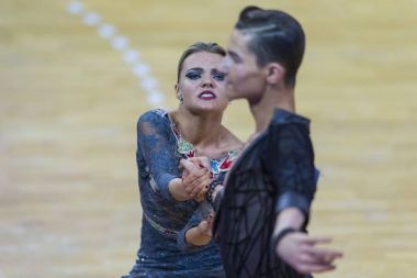 Couple Of Ilia Shvaunov and Anna Sneguir Performs Youth-2 Latin-American Program on WDSF International WR Dance Cup