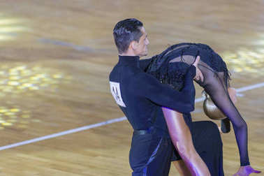 Professional Dance Couple Performs Youth-2 Latin-American Program on WDSF International WR Dance Cup
