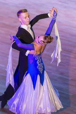 Couple Perform Youth Standard European Program on the WDSF International WR Dance Cup