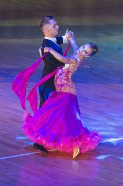 Dance Couple Perform Youth Standard European Program