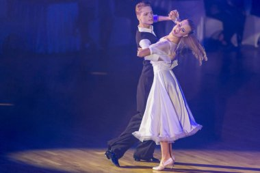 Professional Dance Couple Perform Youth Standard European Program