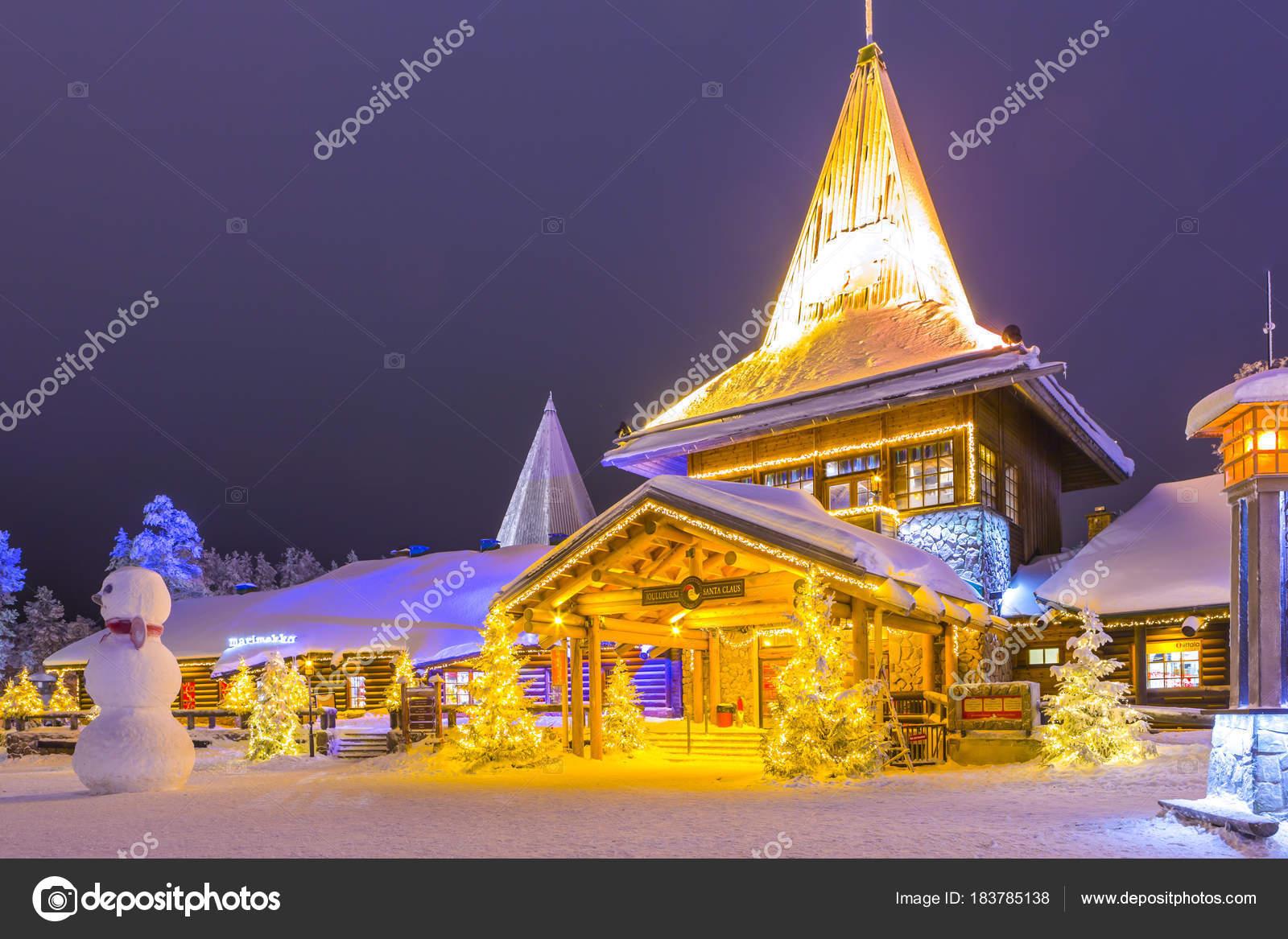 Casa Babbo Natale Rovaniemi Finlandia.Famoso Autentico Ufficio E Casa Residenziale Di Santa Claus Babbo