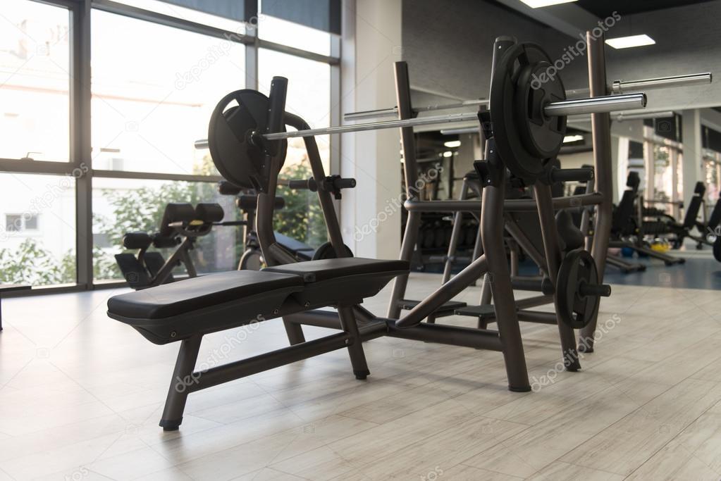 Exercise machines in a modern gym u stock photo ibrak