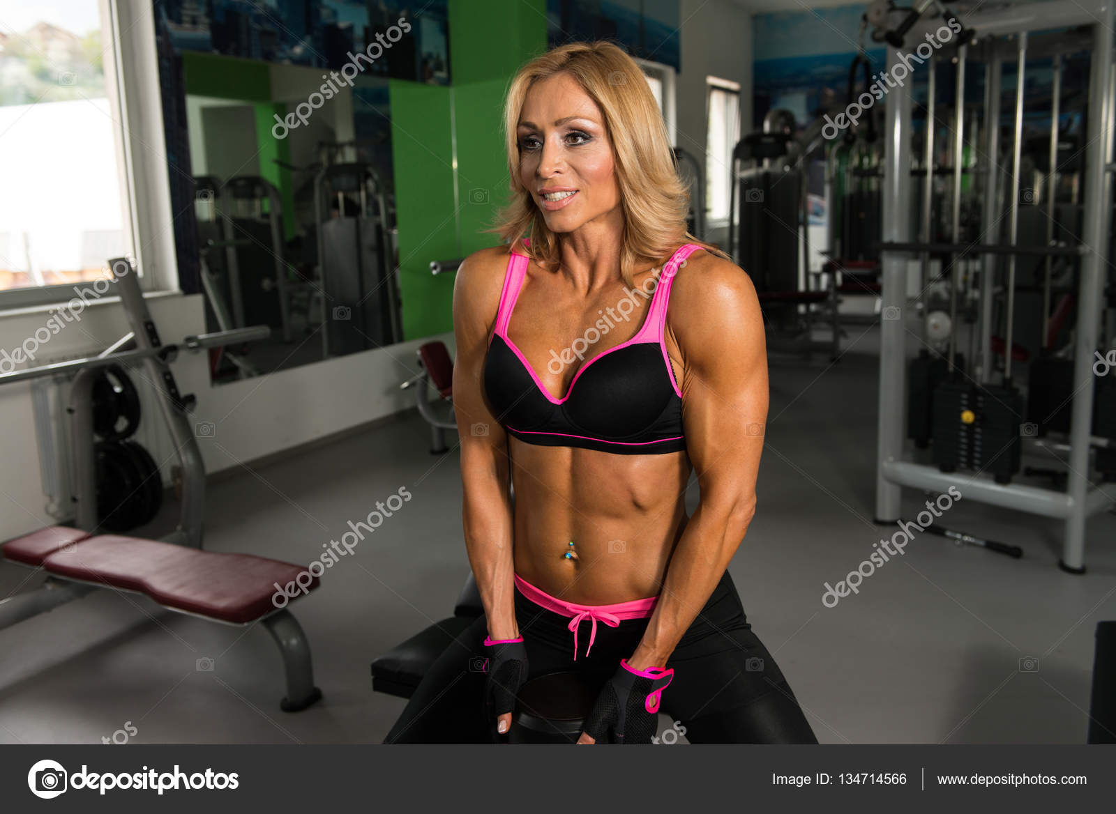 fitness woman doing exercise for butt with dumbbells — stock photo