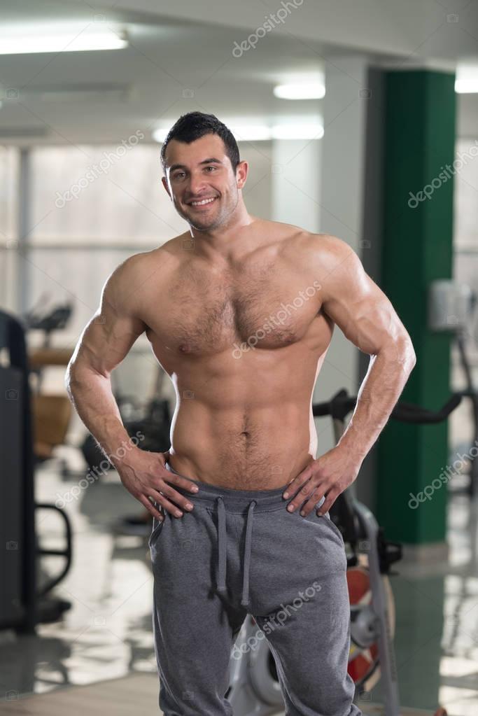 Portrait of bodybuilder stock photo. Image of fresh