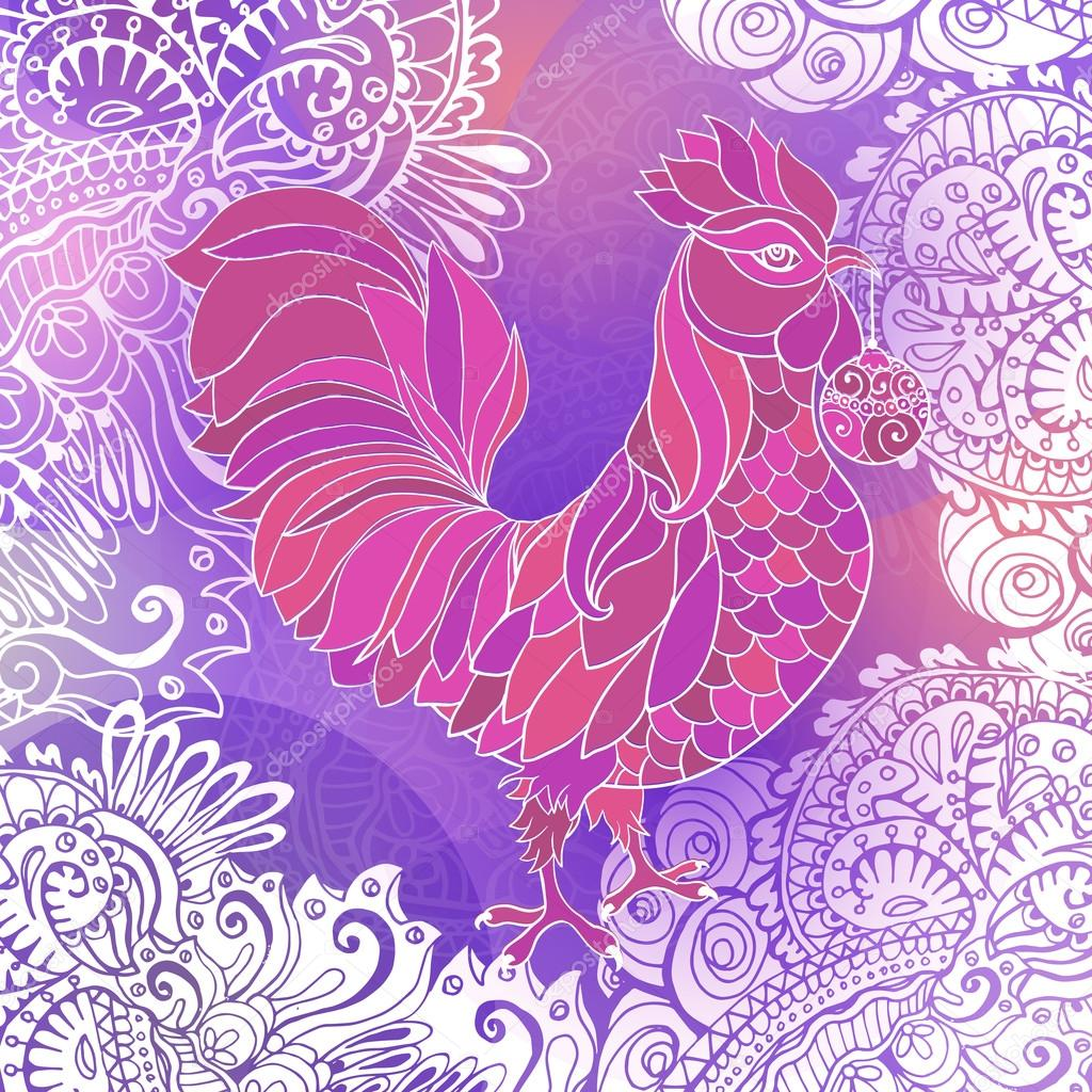 Rooster, symbol of 2017