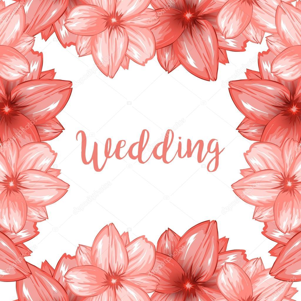 marco de flores para boda archivo imágenes vectoriales ilonitta