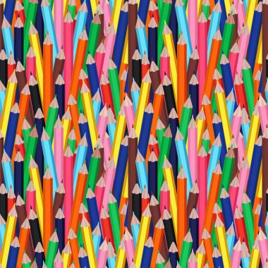 multicolor cartoon pencils