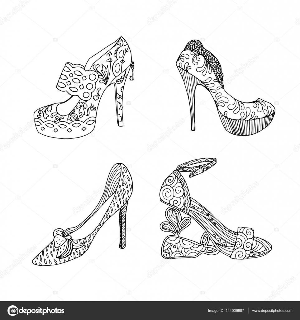 Fotos Silueta De Zapato De Mujer Para Colorear Zapato De Tacón