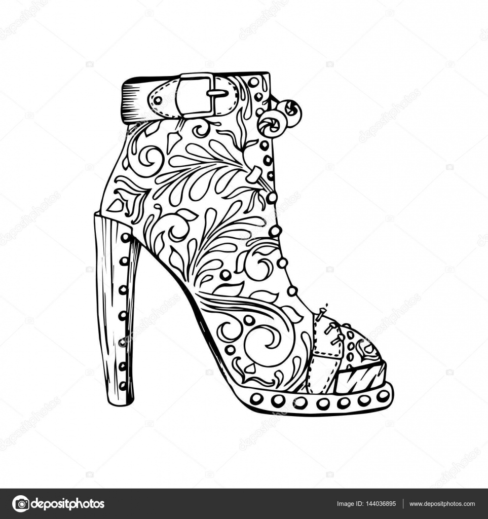 Clipart High Heeled Shoes Female High Heeled Shoe Stock