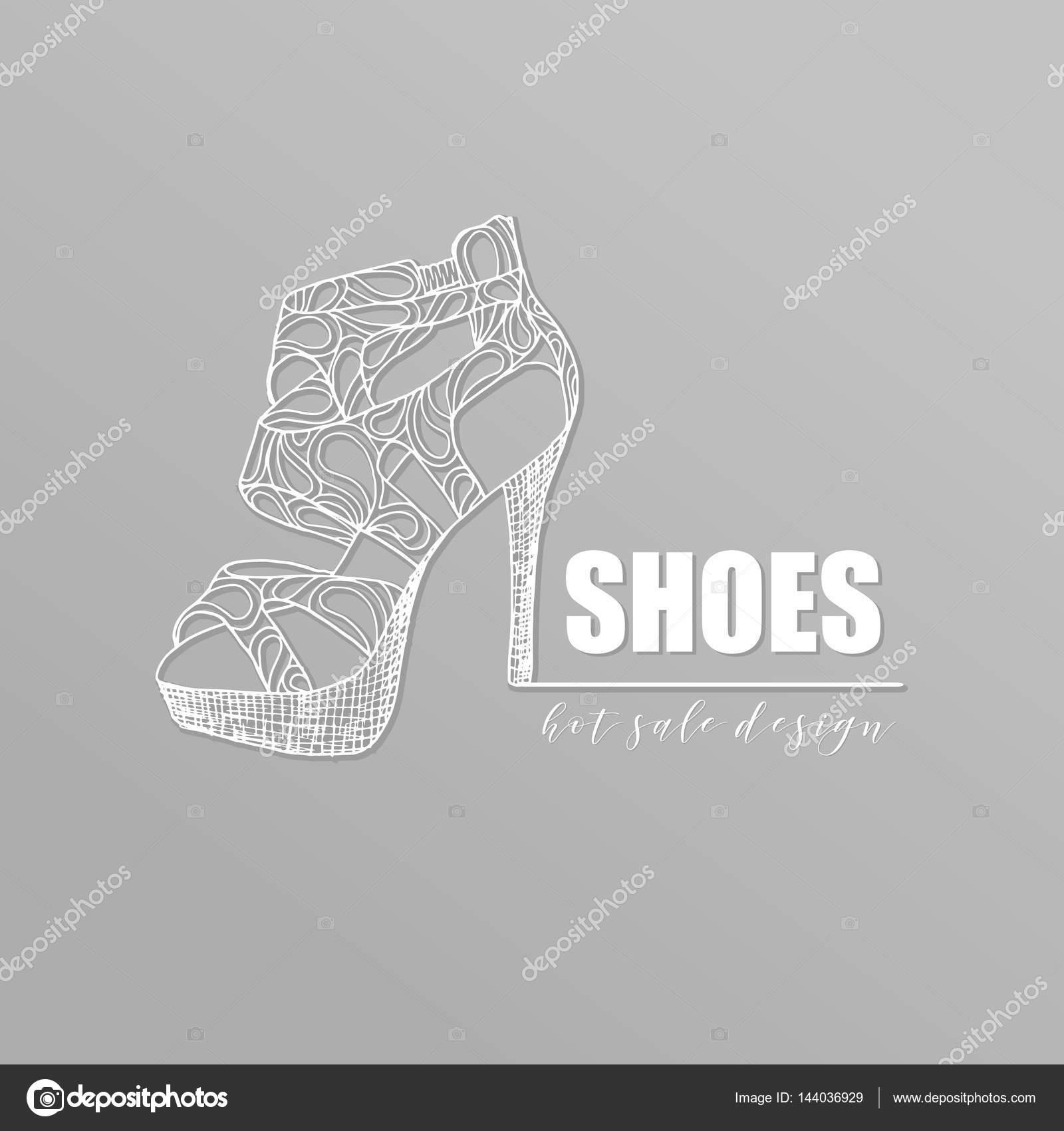 Kadın Yüksek Topuklu Ayakkabı Stok Vektör Ilonitta 144036929