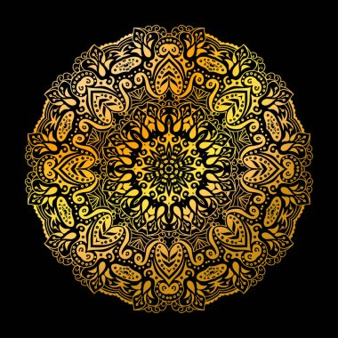 Golden indian mandala