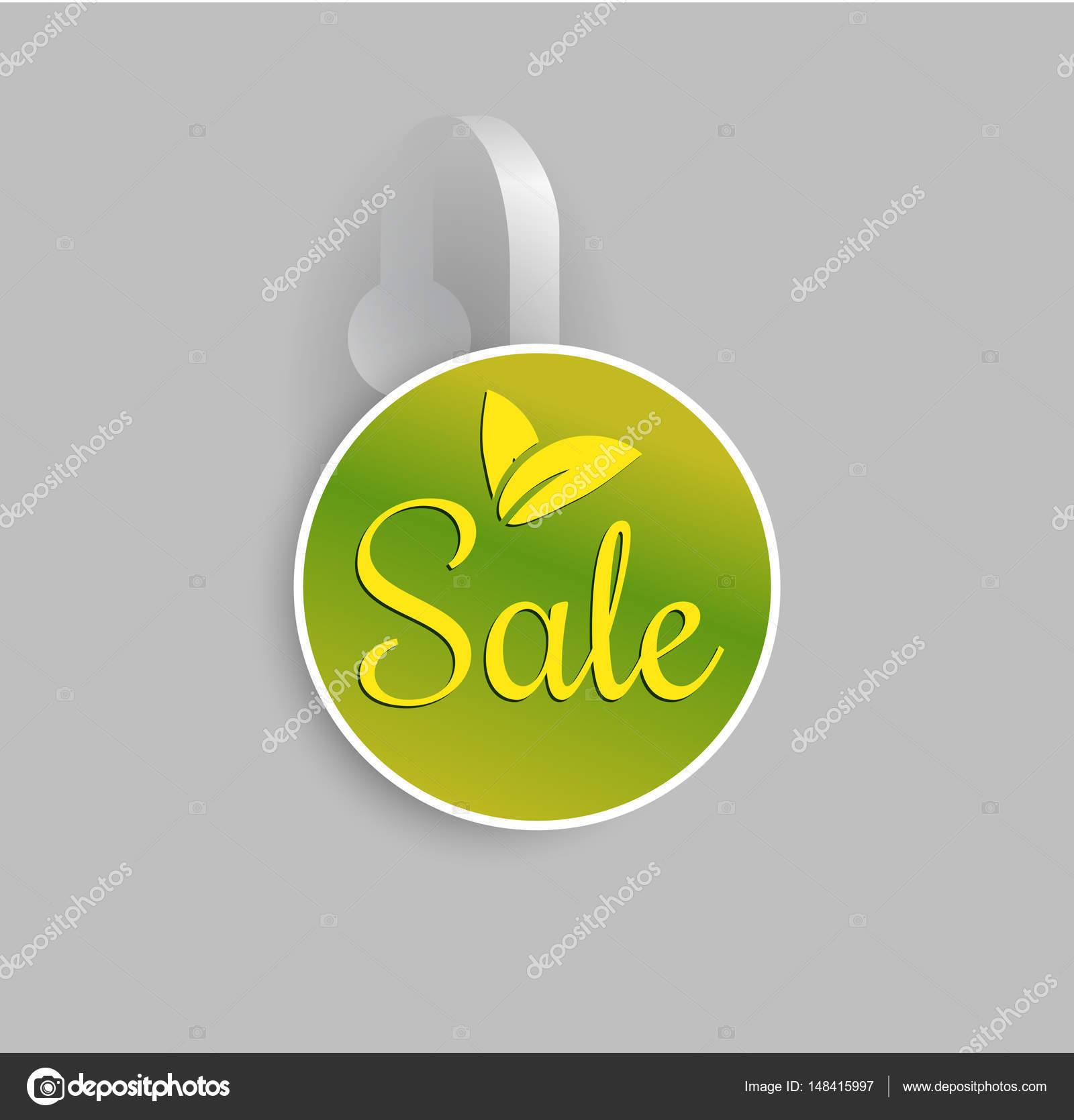 Shelf Wobbler Discount Label Mockup Stock Vector C Ilonitta 148415997