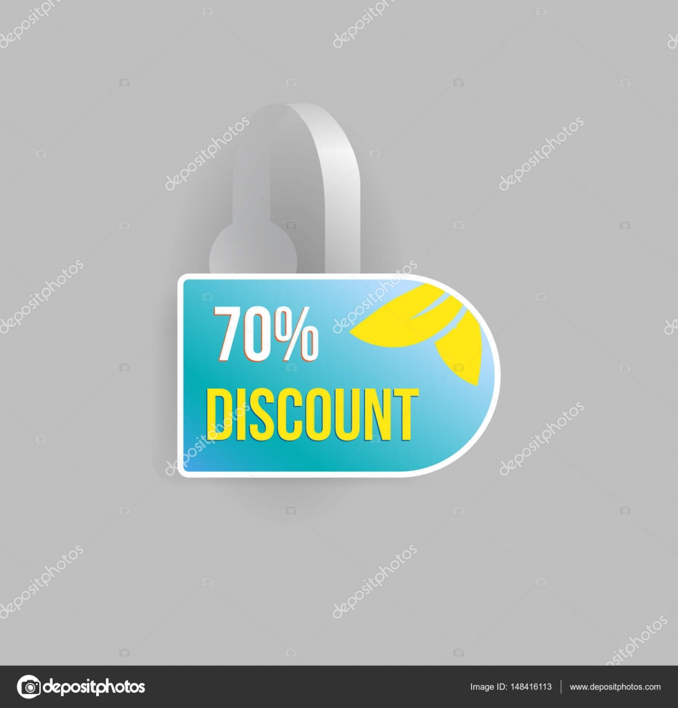 Shelf Wobbler Discount Label Mockup Stock Vector C Ilonitta 148416113