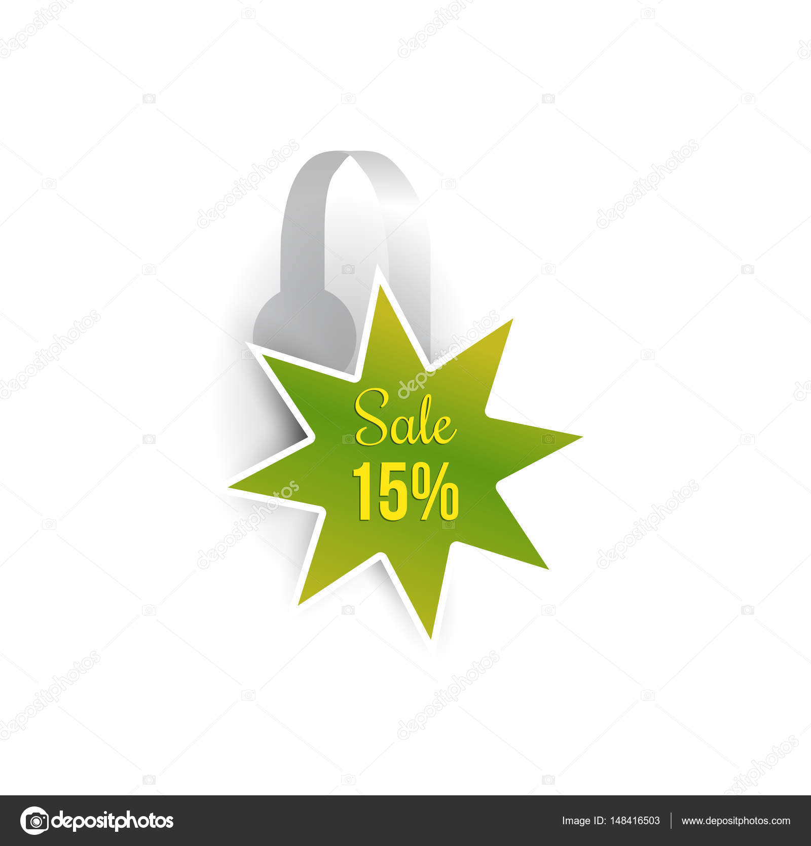 Shelf Wobbler Discount Label Mockup Stock Vector C Ilonitta 148416503
