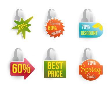 set of shelf wobbler discount labels