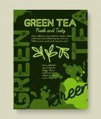 Fotografie Green tea poster  typography design.