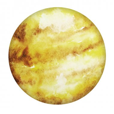 Planet Venus isolated on white background