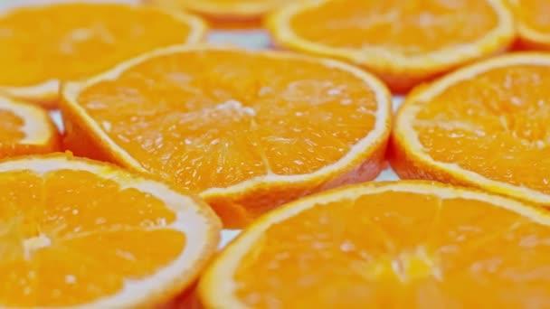 close up view of fresh orange slices