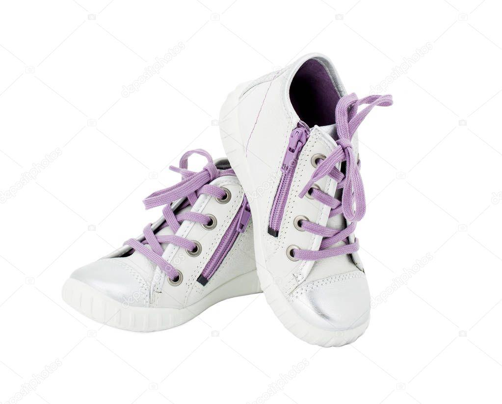 c8e6ea27856c8 Pelle In Bianca Con Sneakers Viola Merletto zq5OgxWfv