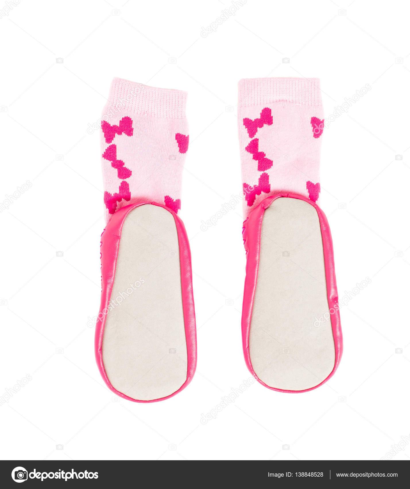 2064ea1f223 Ροζ μαλακά παπούτσια για μωρά — Φωτογραφία Αρχείου © indigolotos ...