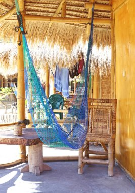 hammock in a bamboo bungalow