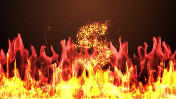 Countdown Animation From 5 To 0 With Cracking Stone Number And Fire Burning Eruption Effect Background Used For Introduction Title Presentation In 4k Ultra Hd Video In Extreme Thrilling Fire Concept