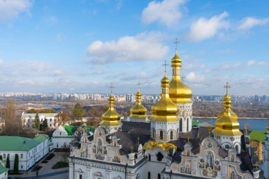 Kiev. Ukraine. Kiev Pechersk Lavra or the Kiev Monastery of the Caves. Travel photo. View from bell tower.