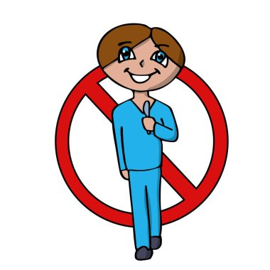 prohibition sign of surgery, surgeons and operations. isolated vector illustration