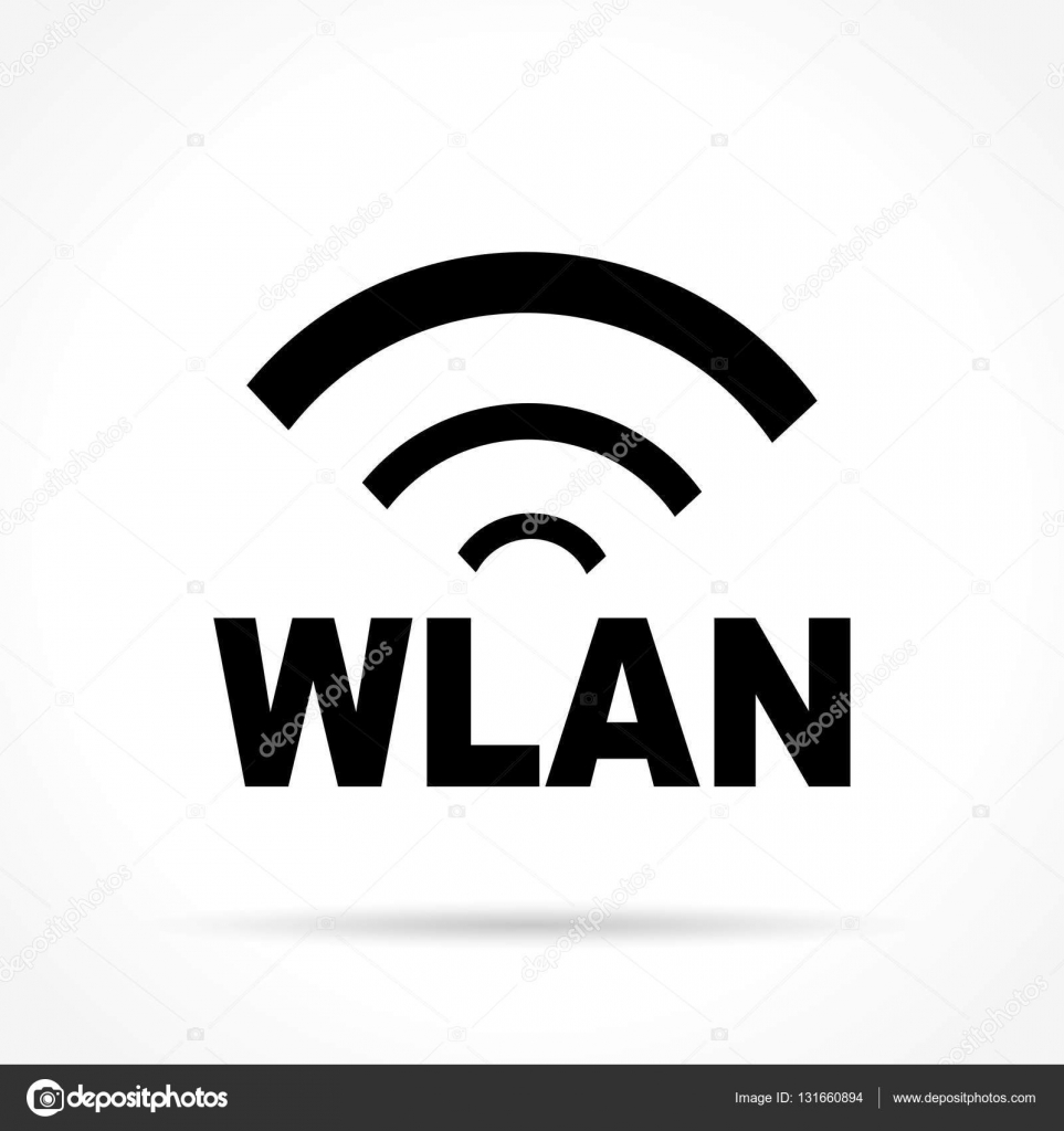 wlan icon on white background — Stock Vector © nickylarson #131660894