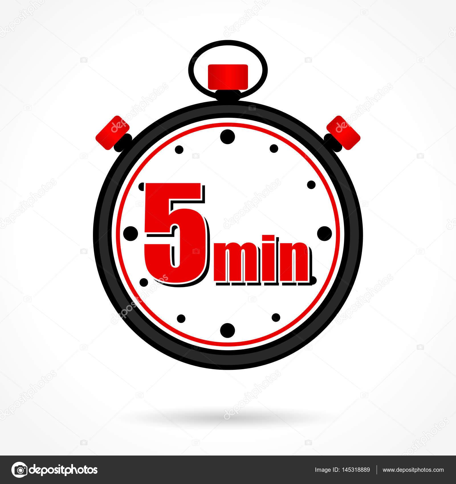 Cron Metro De 5 Minutos Vetores De Stock Nickylarson