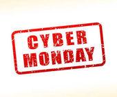Cyber pondělí text na bílém pozadí s vyrovnávací pamětí