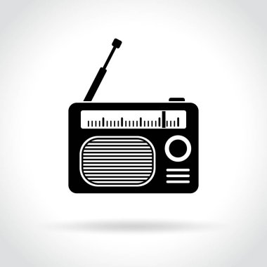 Radio icon on white background