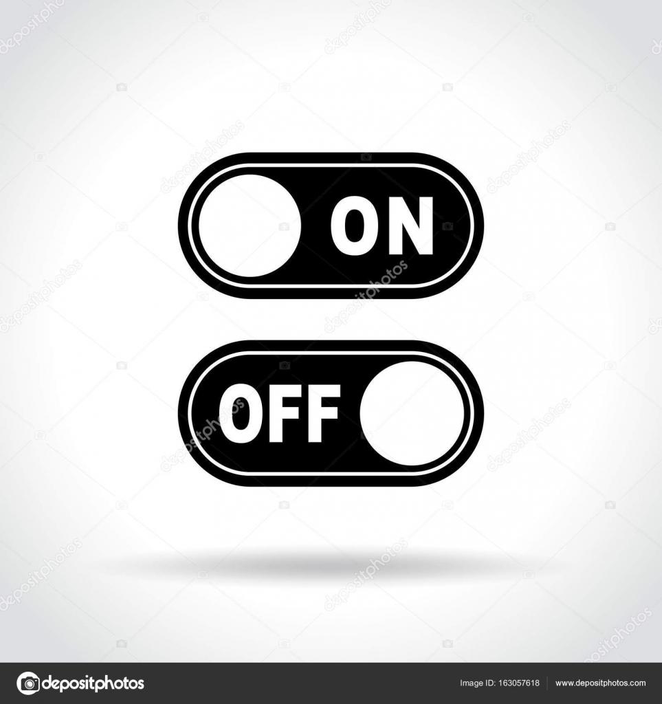 Schalter-Symbol auf weißem Hintergrund — Stockvektor © nickylarson ...