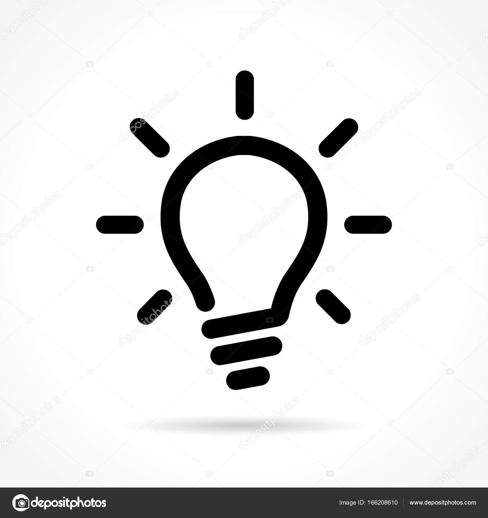 Glühbirne Symbol auf weißem Hintergrund — Stockvektor © nickylarson ...