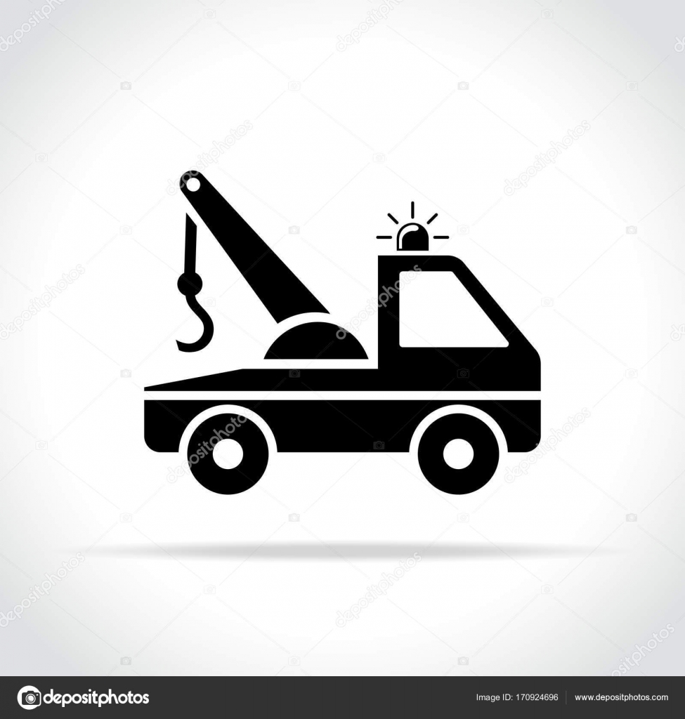 Tow Truck Icon On White Background Stock Vector Nickylarson