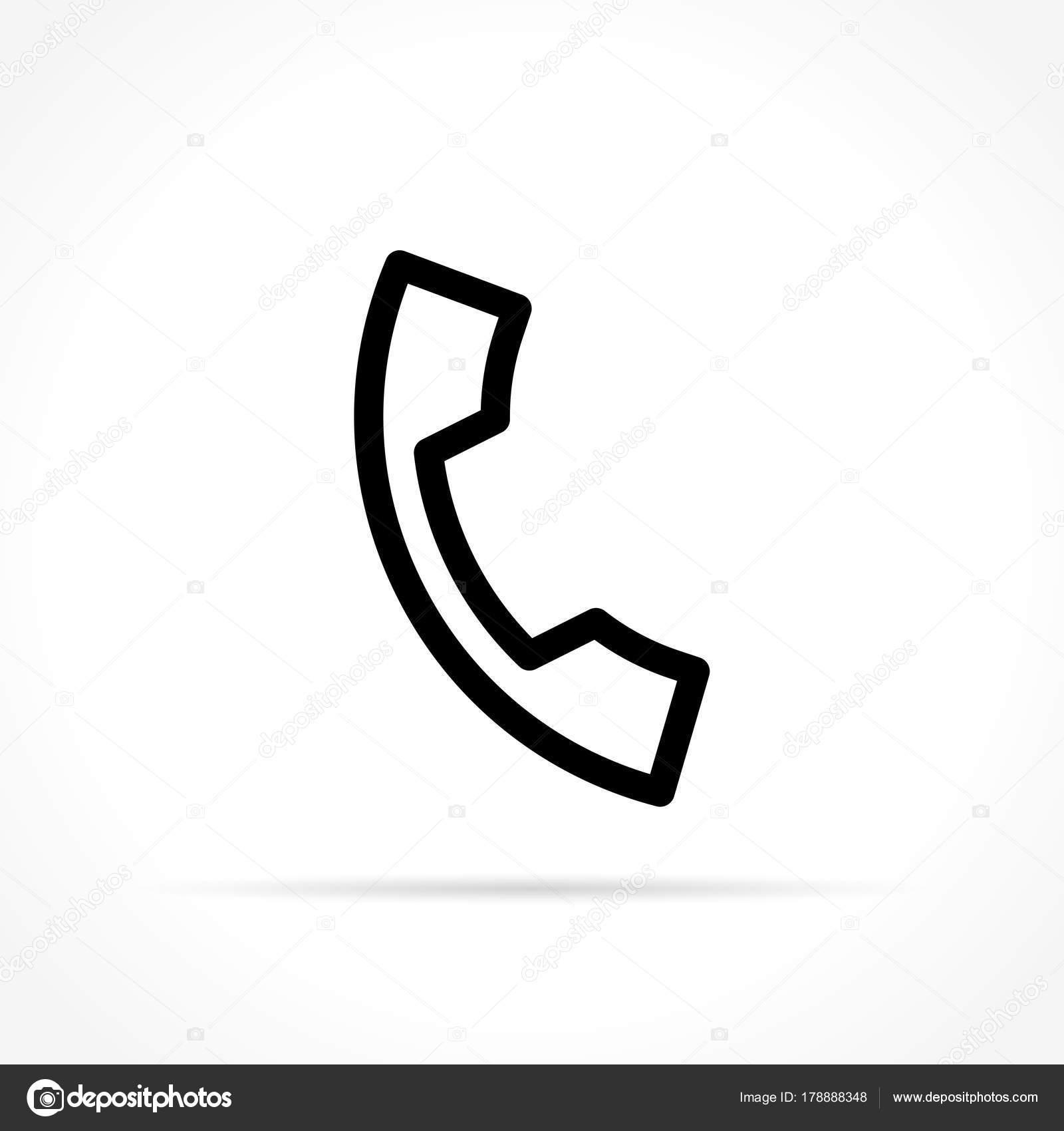 Icona Telefono Su Sfondo Bianco Vettoriali Stock Nickylarson
