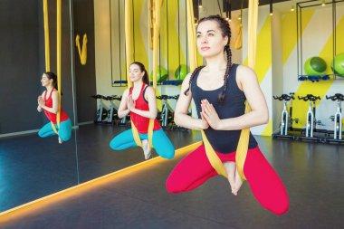Meditation in  Hammocks for Anti-gravity yoga.